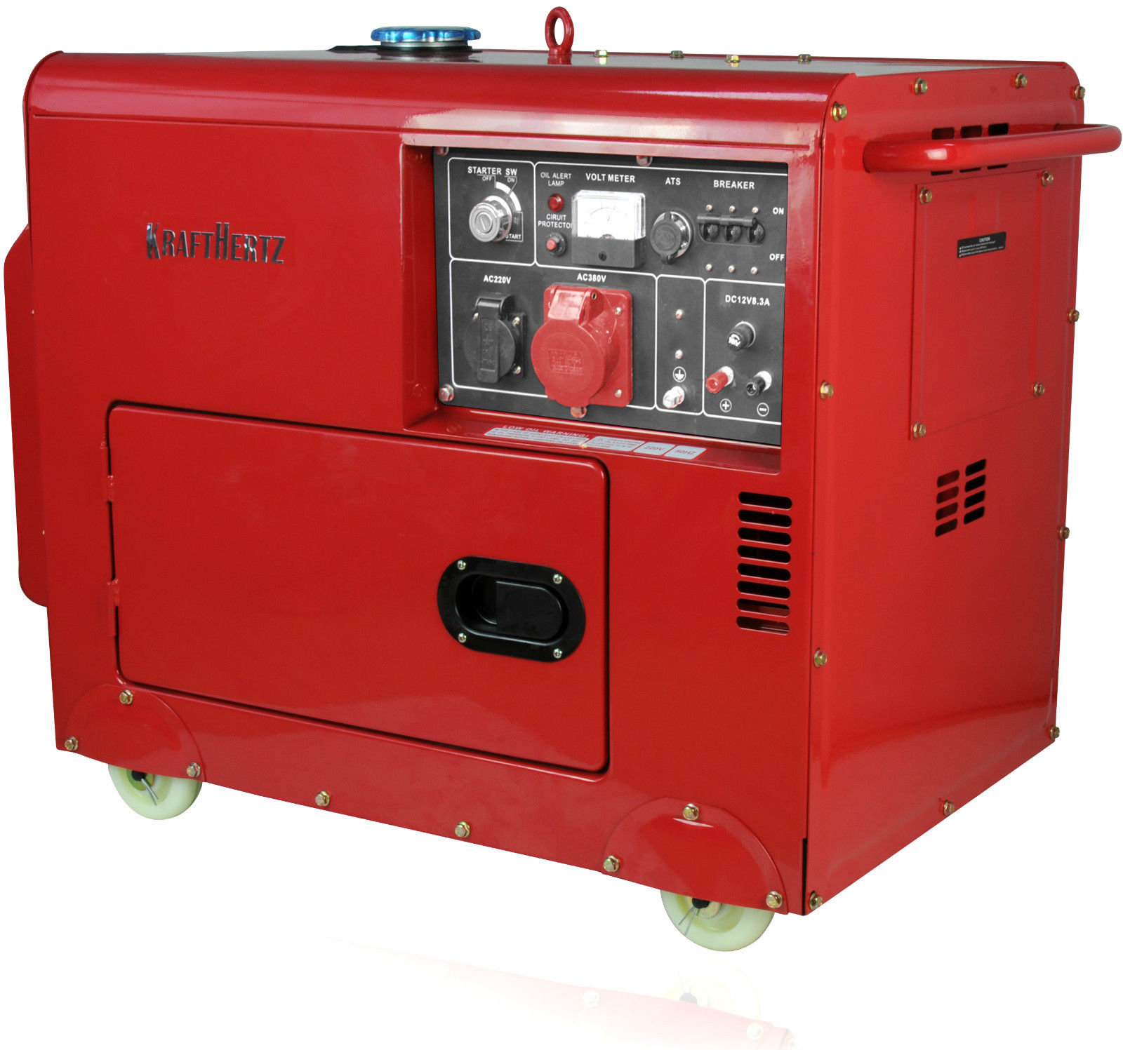 6Kva Diesel Generator 3 Phase Super Silent Kraft Hertz w ATS